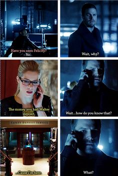 Diggle, Oliver & Felicity #Arrow