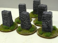 Standing stone objective markers