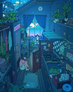 Live Wallpapers, Animes Wallpapers, Aesthetic Art, Aesthetic Anime, Arte Copic, Japon Illustration, Anime Scenery Wallpaper, Retro Wallpaper, Surreal Art
