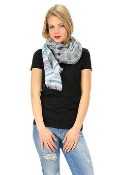 MANILA GRACE - Sciarpe - Abbigliamento - Sciarpa in cotone con frangia sui bordi. - MD223 - € 97.00