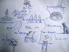 "Check out this blogger's ""reading map"" of Sarah Orne Jewett's ""The Country of the Pointed Firs."" She traces the other books CPF reminded her of as she was reading. Sweet!"