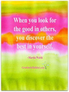 Look for the good. Visit us at: www.GratitudeHabitat.com