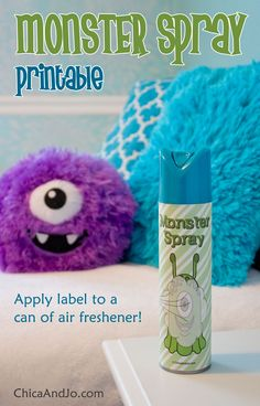 Help kids scare away monsters in the closet or under the bed with our free monster repellent spray printable label. Toddler Crafts, Toddler Activities, Monster Spray, Toddler Storytime, Scared Of The Dark, Monster Under The Bed, Printable Labels, Printables, Kids Sleep