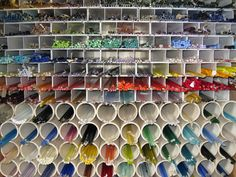 #papercraft #crafting #organization Glass Organization...this is a fantastic idea!