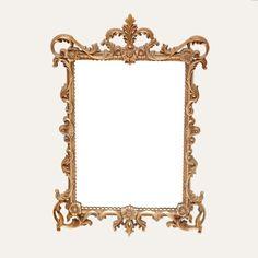Andrea gold mirror: Ornate gold framed mirror.