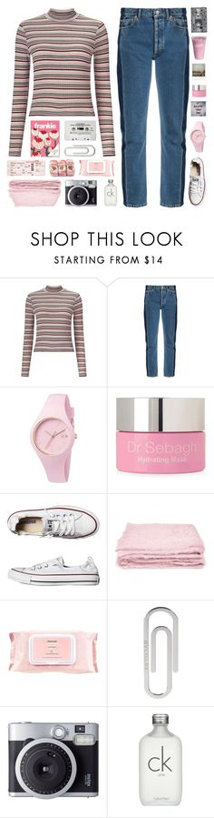 """now i just sit in silence"" by megan-vanwinkle ❤ liked on Polyvore featuring Miss Selfridge, Balenciaga, CASSETTE, Ice-Watch, Polaroid, Dr. Sebagh, Converse, abcDNA, Mamonde and Bulgari"