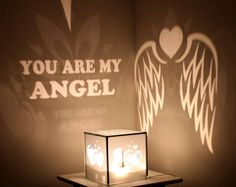 Hand crafted mystery lamp - ANGEL