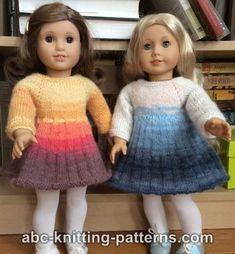 American Girl Doll Pleated Skirt Dress