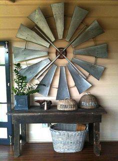Vintage windmill wings repurposed