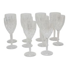 Waterford Crystal Wine Glasses, S/10 #huntersalley