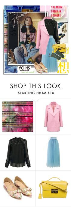 """""""You know I dream in colours. Yoins.com"""" by hamaly ❤ liked on Polyvore featuring Chicwish, Prada, Overland Sheepskin Co., colorful, coats and yoins"""