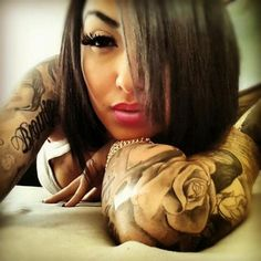 #tattoos #girls #with #tattoos #makeup #sleeves