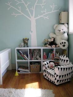 #nursery Window Mural, Kids Decor, Home Decor, Little Girl Rooms, Bedroom Storage, Home Projects, Playroom, Kids Room, Scandinavian