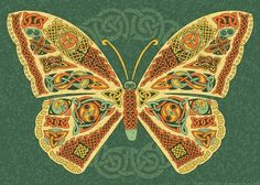 Celtic Butterfly:   Research reveals that the symbolic meaning of the butterfly is similar across most cultures and time. Invariably, this beautiful Celtic animal symbol represents transformation, inspiration, and rebirth.