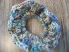 Hand Crocheted Hair Scrunchies Browns Blues and by acraftylady812