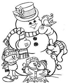 Картинки по запросу coloriage bonhomme de neige