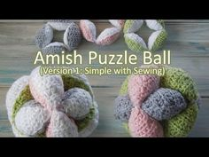 (crochet) How To Crochet an Amish Puzzle Ball - Yarn Scrap Friday - YouTube