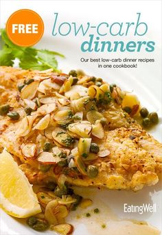 Get our low-carb dinner recipes together in one free printable cookbook.