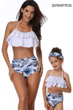 Mother & Daughter Floral Printed Swimsuit BUY Mommy and me swimsuit or separate purchasing Features - Pecfect family gift for women and baby girl. Make your wife and daughter more charming! -The swimsuit is made of high quality smooth fabric.Stretchy, comfortable and durable, soft. Perfect for beach, swimming pool party, seaside or any other water activities. Summer Bathing Suits, Cute Bathing Suits, Your Wife, Mommy And Me, Floral Prints, Daughter, Swimsuits, Water Activities, Swim Wear