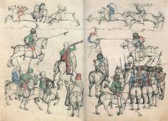 Master of the Housebook. Big Game Hunt. c. 1475/1485. Schloß Wolfegg / Sammlung Fürst von Waldberg zu Wolfegg und Waldsee. Wolfegg, Germany.