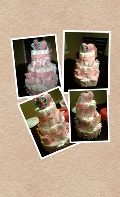 Butterfly Diaper Cake by FrediaCreations on Etsy, $35.00