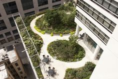 Organic Gardening Supplies Needed For Newbies Clare Tower Roof Garden, Chicago Tower Garden, Sky Garden, Landscape Architecture Design, Garden Architecture, Landscape Architects, Contemporary Architecture, Rooftop Design, Green Roof Benefits, Porche