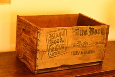 Old crate wood crate wedding card box toy box by vintageatmosphere, $65.99