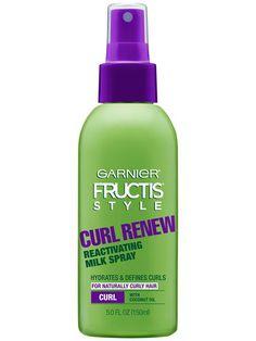 Garnier Fructis Style Curl Renew Reactivating Milk Spray Front Of Bottle