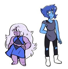 Amethyst and lapis lazuli clothes swap