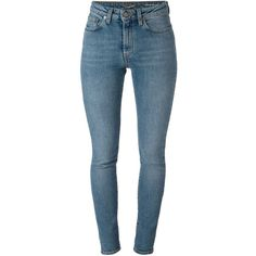 Saint Laurent classic skinny jeans ($620) ❤ liked on Polyvore featuring jeans, pants, bottoms, saint laurent, blue, blue jeans, skinny leg jeans, 5 pocket jeans, frayed jeans and denim skinny jeans