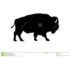 American Bison Vector Silhouette - Download From Over 27 Million High Quality Stock Photos, Images, Vectors. Sign up for FREE today. Image: 8974454