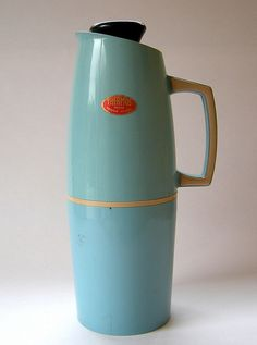 jug in blue, perfect for coffee on the road.