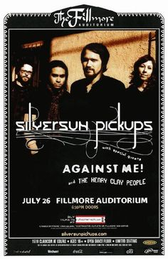 Concert poster for the Silversun Pickups at The Fillmore Auditorium in Denver, CO in 2010. 11x17 inches.