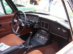 Another view of a late 1972-1974 1/2 MGB GT original factory interior.