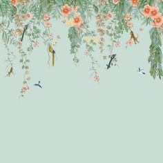 Chinoiserie Removable Wallpaper Designs | Tempaper Animal Print Wallpaper, Bird Wallpaper, Textured Wallpaper, Fabric Wallpaper, Peel And Stick Wallpaper, Tropical Wallpaper, Bedroom Wallpaper, Adhesive Wallpaper, Removable Wall Murals