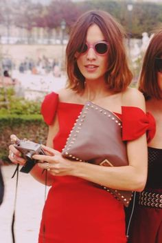 alexa in valentino in paris for PFW. I mean, seriously??!