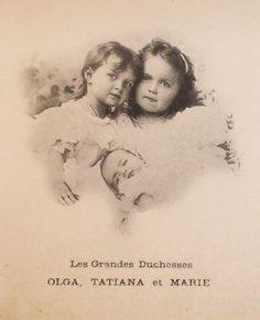 Tatiana, Olga and Maria, 1899