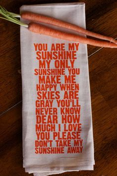 always love seeing how this song makes it way into the world. :: You Are My Sunshine Tea Towel by IScreenYouScreen
