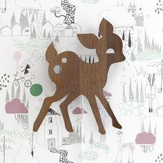 Wall Light . My Deer - Smoked Oak Veneer