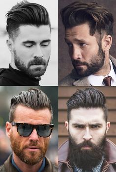 Men's Slicked Back Hairstyles with Disconnected Sides