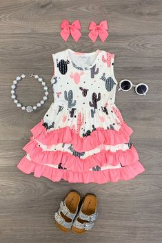 Baby Girl Fashion, Toddler Fashion, Toddler Outfits, Kids Fashion, Organic Baby Clothes, Baby Kids Clothes, Outfits Niños, Kids Outfits, Ruffle Dress