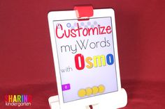 As a huge technology fan and Kindergarten teacher, I have not only fallen in love with the Osmo, but I have uncovered an amazing secret to using the myWords game! In addition to the premade and free a