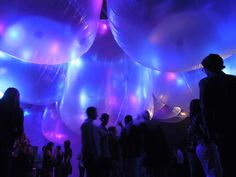 hidemi nishida studio floats fragile occupancy cloud over VIP kick off party for FYF fest 2013 at mack sennett studios in los angeles
