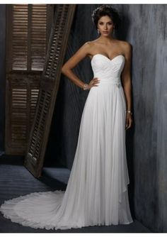 simple, but elegant and beautiful, love the sweetheart neckline