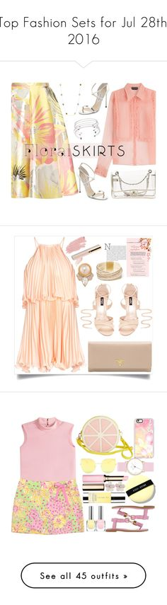 """""""Top Fashion Sets for Jul 28th, 2016"""" by polyvore ❤ liked on Polyvore featuring Rochas, Chanel, Jimmy Choo, DANNIJO, Tacori, Floralskirts, Prada, GUESS, Carolee and Jane Iredale"""
