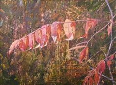 Acrylic Original Texture Glaze Sumac in the Fall by patriciahaftar, $625.00
