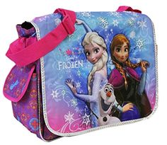 Purple Elsa, Olaf, and Anna Disney Frozen Messenger Laptop Bag  - Click image twice for more info - See a larger selection of kids messenger bag at http://kidsbackpackstore.com/product-category/kids-messenger-bags/ - kids, juniors, back to school, kids fashion ideas, school supplies, backpack, bag , teenagers,  boys, girls  gift ideas,school bag,