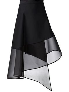 Koma Sheer Hem A-line Wrap Skirt - Bonvicini. David Koma Sheer Hem A-line Wrap Skirt - Bonvicini. David Koma Sheer Hem A-line Wrap Skirt - Bonvicini. Fashion Details, Diy Fashion, Fashion Dresses, Fashion Design, Style Fashion, Fashion Beauty, Luxury Fashion, David Koma, Skirt Pants