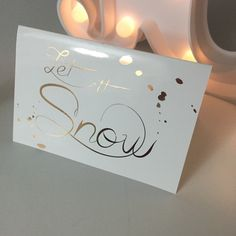 A personal favourite from my Etsy shop https://www.etsy.com/au/listing/256371545/let-it-snow-script-christmas-card-with