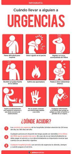 Cuándo llevar a alguien a urgencias #infografia